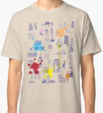History of Art (blue artlines, w/ paint splashes) Classic T-Shirt