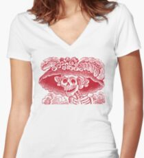 Calavera Catrina | Day of the Dead | Dia de los Muertos Women's Fitted V-Neck T-Shirt