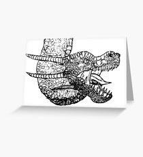 Dragon Sketch Greeting Card