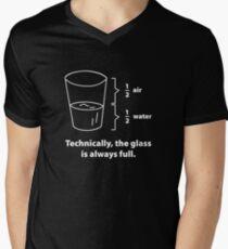 Technically, The Glass Is Always Full Men's V-Neck T-Shirt
