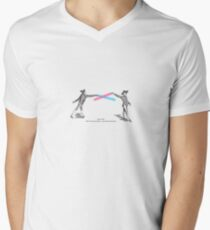 Fig. 1138 - 18th century fencing Men's V-Neck T-Shirt