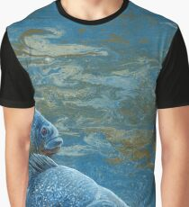 """Pond Thugs"", Piranha Fish Painting Graphic T-Shirt"