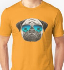 Pug Dog with sunglasses Unisex T-Shirt
