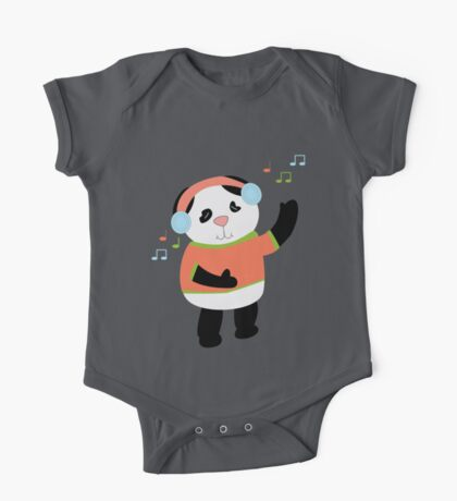 Dancing Panda Shirt Kids Clothes