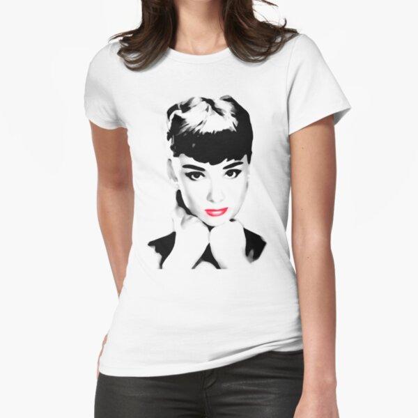 audrey hepburn t-shirt Fitted T-Shirt