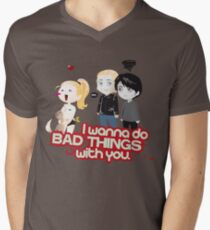Bad Things Mens V-Neck T-Shirt