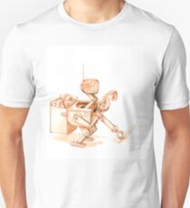 Robots Have Hobbies, colored drawing T-Shirt