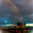 Castel dell'Ovo (Egg Castle) and the Rainbow by Rachel Veser