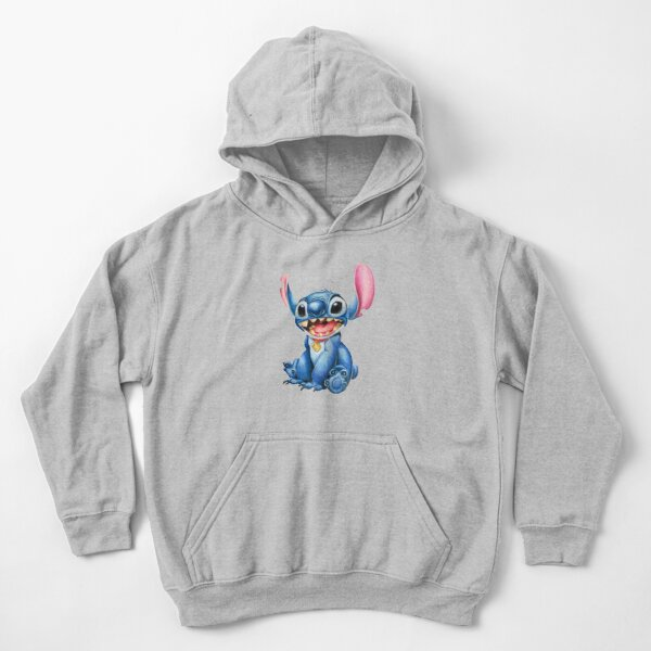 Stitch - Colored pencils Kids Pullover Hoodie