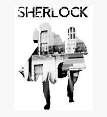 Monochrome Street Sherlock Photographic Print
