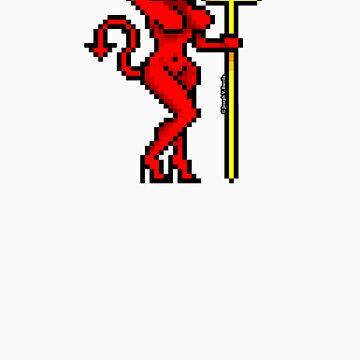 Pixel Devil Girl by JoesGiantRobots
