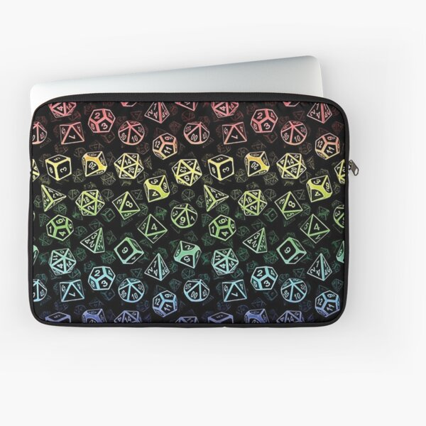 D20 Dice Set Pattern (Rainbow) Laptop Sleeve