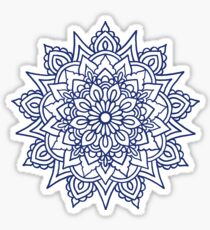 Navy Mandala Sticker