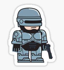 Mitesized Robocop Sticker