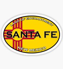 Beautiful Santa Fe New Mexico, Land of Enchantment - Zia Sticker