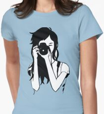 Photographer Girl Womens Fitted T-Shirt