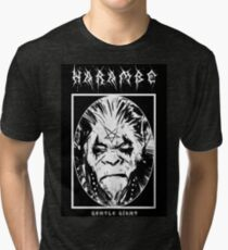 Black Metal Harambe Tri-blend T-Shirt