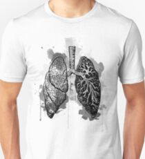 Digital Anatomical Watercolor Lungs T-Shirt