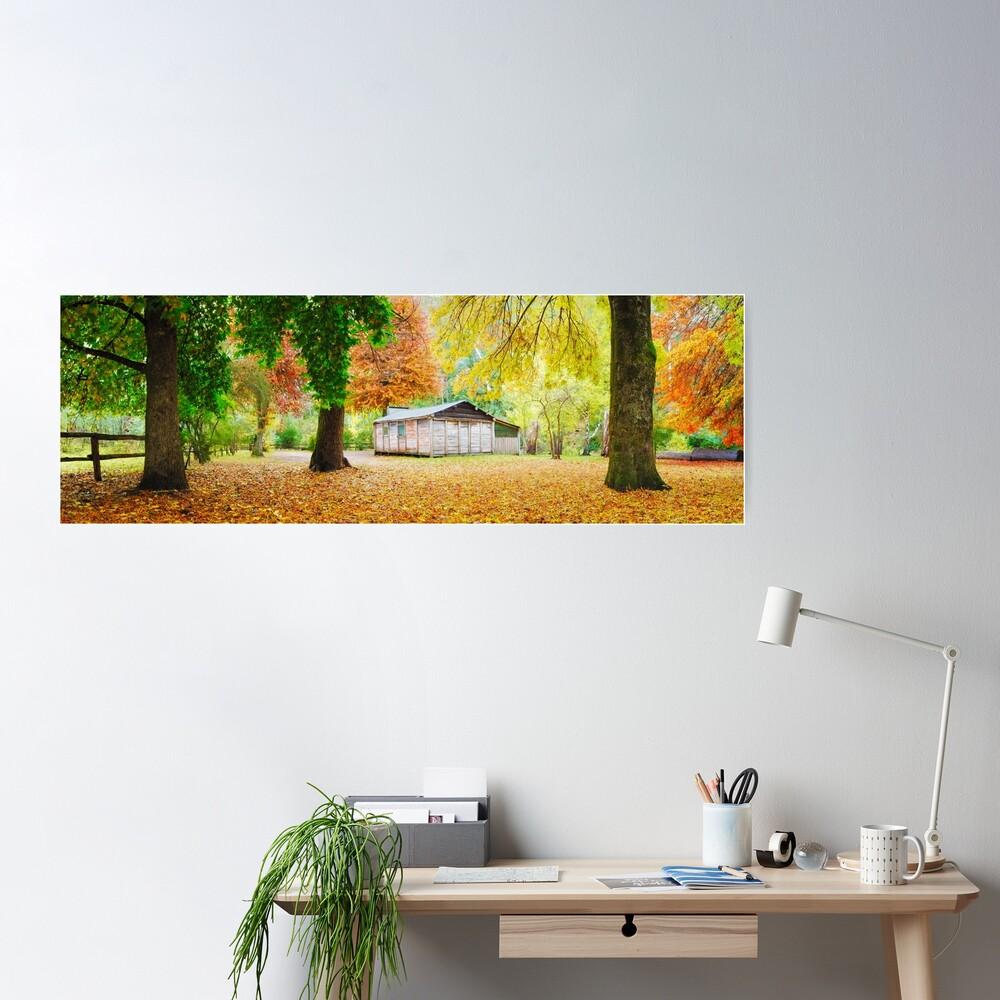 Pickerings Hut, Howqua Hills, Victoria, Australia Poster