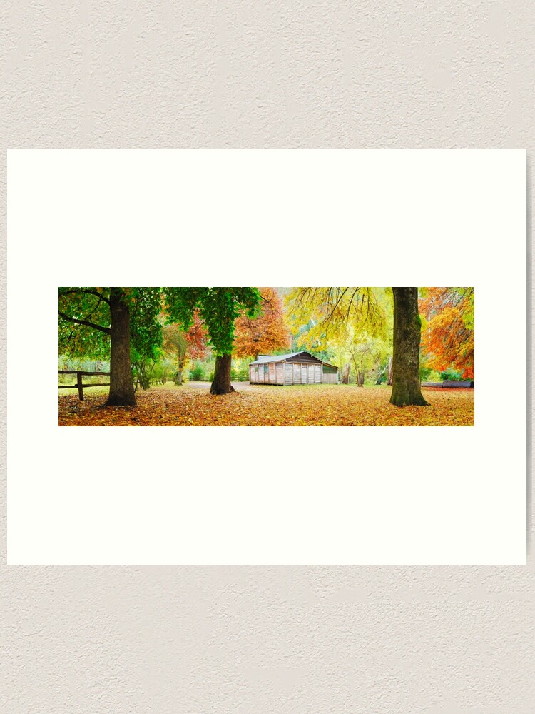 Alternate view of Pickerings Hut, Howqua Hills, Victoria, Australia Art Print