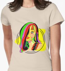 Hypnotic girl Womens Fitted T-Shirt