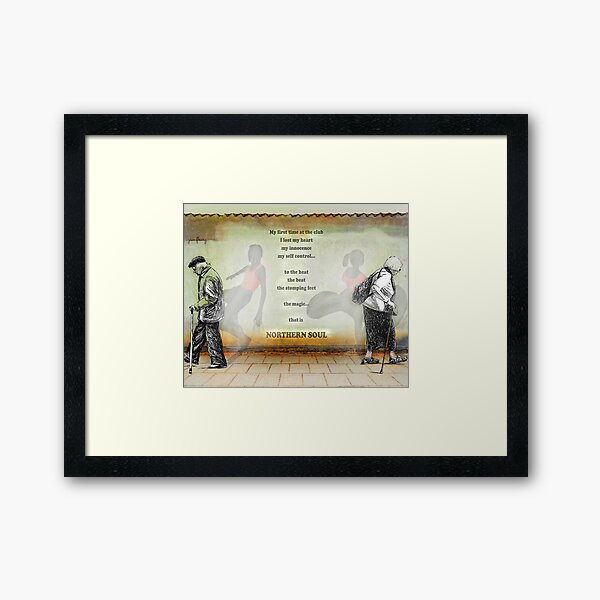 Northern Soul Print Poster Canvas design by Pipberry Framed Art Print