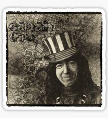 """Jerry Garcia """"Captain Trips"""" Grateful Dead Shirt Sticker"""