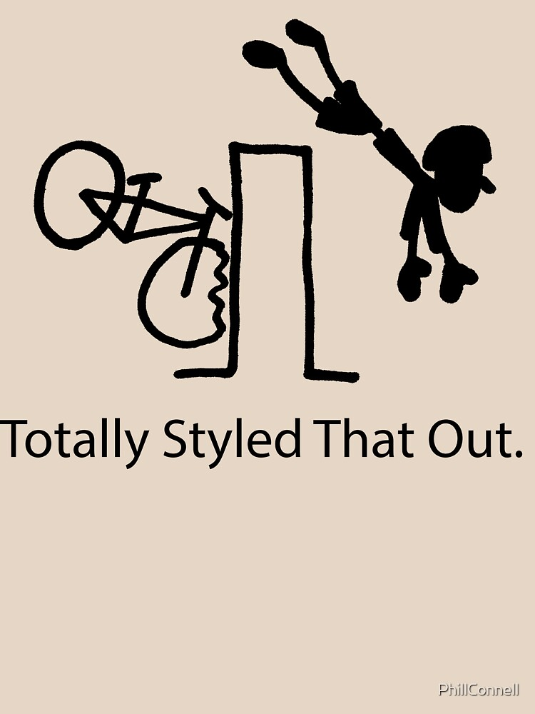 """MTB Cycling Crash """"Styled That Out"""" Cartoon by PhillConnell"""