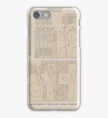 0644 Ptolemaeer Ptol XI Alexander I Edfu Idfû a Südwand des Vorhofes b Innere und Aeussere Nordwand der Ringmauer iPhone Case/Skin