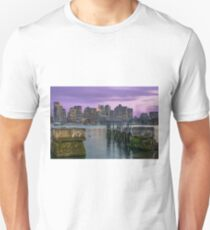Boston Harbor at sunset. Unisex T-Shirt