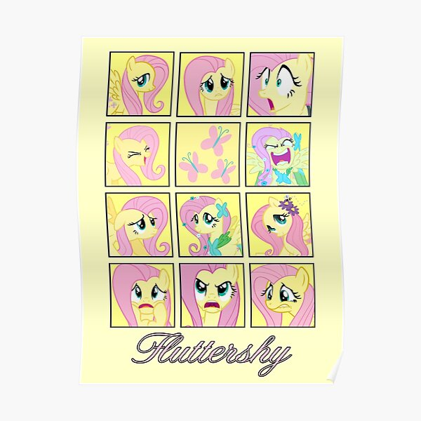 Faces of Fluttershy Poster
