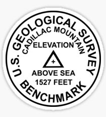 Cadillac Mountain, Maine USGS Style Benchmark Sticker