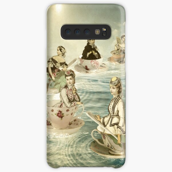 Surfers on a teacup sea Samsung Galaxy Snap Case