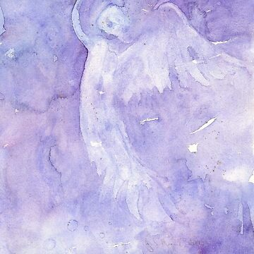 Angel Rising- Flowing Watercolor by ArtByDrax
