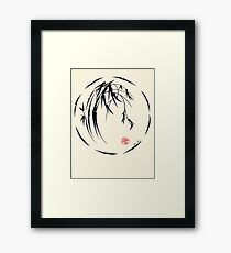 """""""Beauty"""" sumie ink brush pen painting Framed Print"""