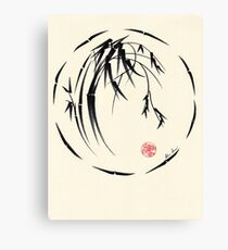 """Beauty"" sumie ink brush pen painting Canvas Print"