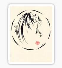 """""""Beauty"""" sumie ink brush pen painting Sticker"""