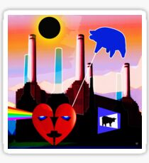 PINK FLOYD ECLIPSED BATTERSEA Sticker