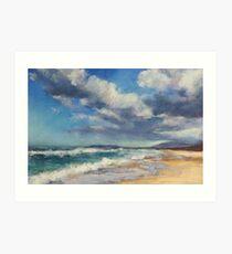 Lake Cathie beach - clouds Art Print