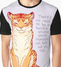 """You're Managing as Best as You Can"" Tiger Graphic T-Shirt"