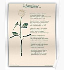 Sometime Poem (Child Loss) Poster