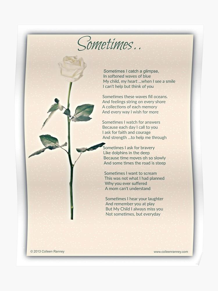 Sometime Poem (Child Loss) | Poster