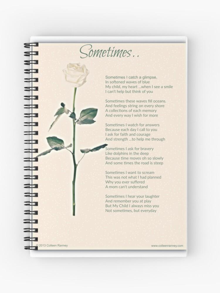 Sometime Poem (Child Loss) | Spiral Notebook