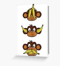 See no evil, hear no evil, speak no evil Greeting Card