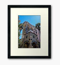 Hollywood Terror Tower Framed Print