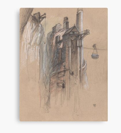 The Devil's Thumb Recreational and Industrial Park Canvas Print