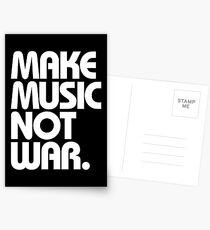 Make Music Not War (Classic) Postcards
