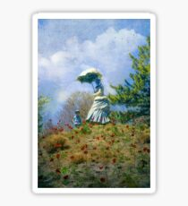 Woman with Parasol Sticker