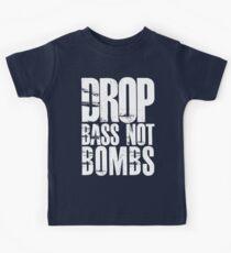 Drop Bass Not Bombs (Black)  Kids Tee