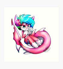 Pinkie Shark Art Print